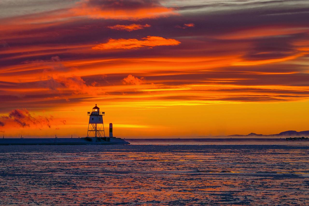 Lake Superior Subzero Sunset 001