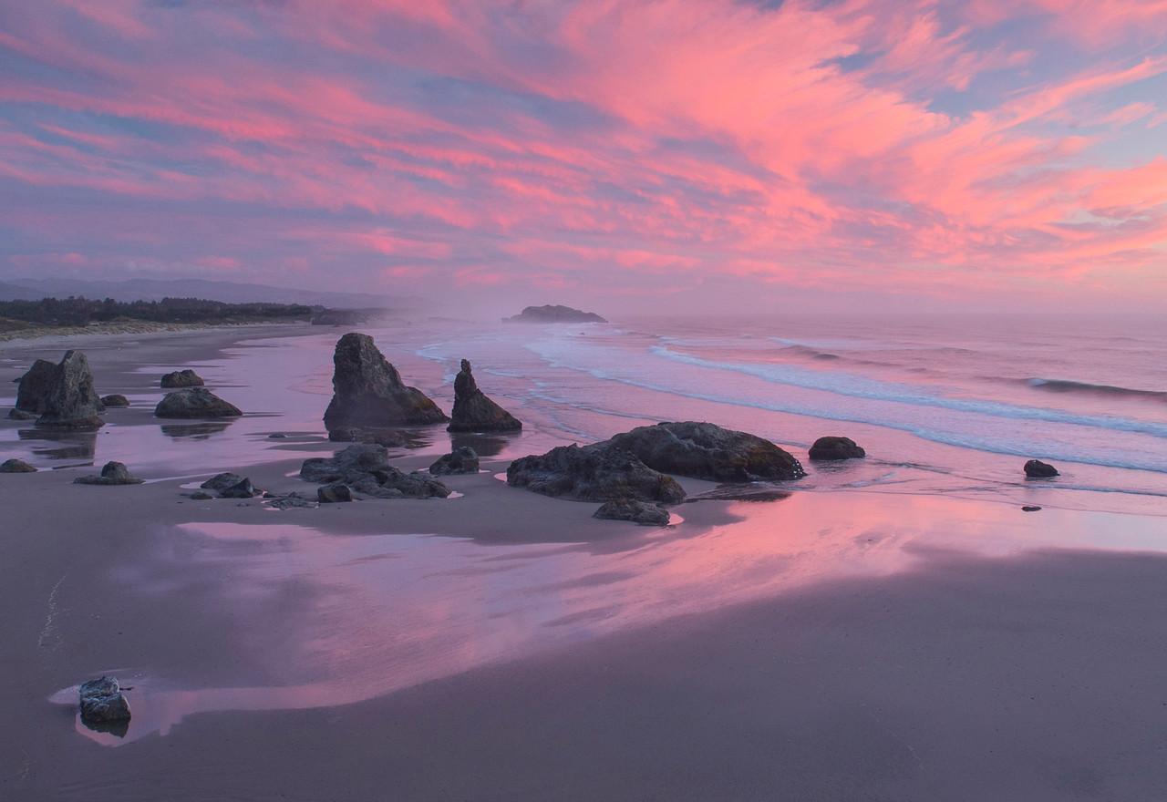 Bandon Beach Sunset Oregon