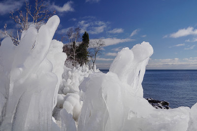 Ice Covered Shoreline 004