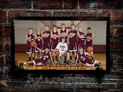 Alcoa Middle School Basketball Team 2012