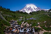 "Mt Rainer with a touch of wild flowers<br /> It was one of those clear days at Paradise section of Mt Rainier. When I first started reading about the national park prior to visiting, it took a while to grasp that any places would be named ""The Paradise"". After visiting, I should completely concur - words fall short of the experience. This area – Paradise – have paved nature trails – short , family friendly and suitable just for everyone. These pathways lead through colorful meadows and offer spectacular mountain vistas. Several classic views of Mt Rainer is nestled out here. One with Myrtle Falls in the foreground, as it tumbles 70 to 80 feet thru the George, is pretty impressive. A few meters from here, just before the wooden bridge is another of my favorite view - The Majestic Mt Rainier adorned with the Edith Creek. May be someday will get there for some lovely twilight :)"