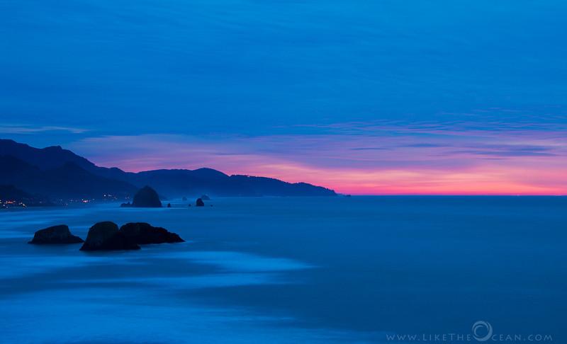 Haystack Rock at Twilight