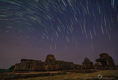 Aihole wrapped in a blanket of stars