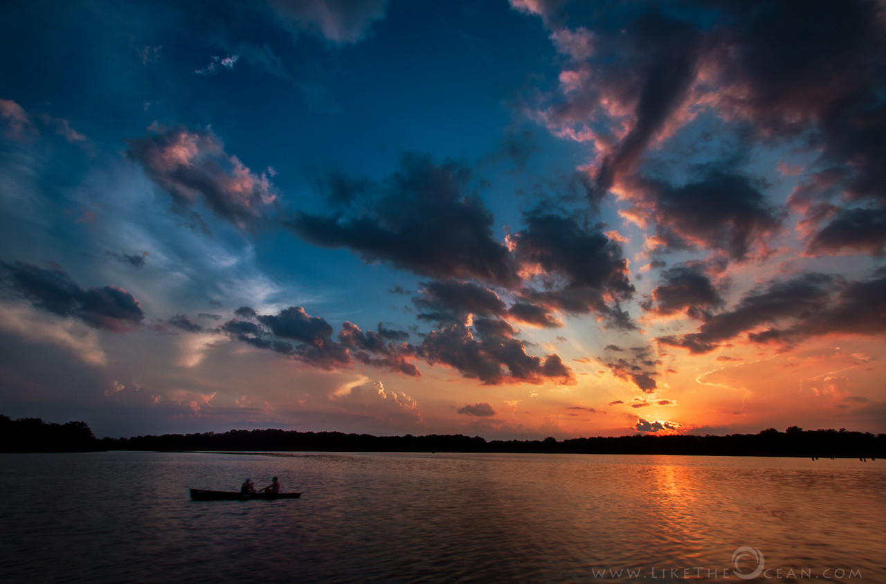 Glorious Sunset at Busse Woods Lake