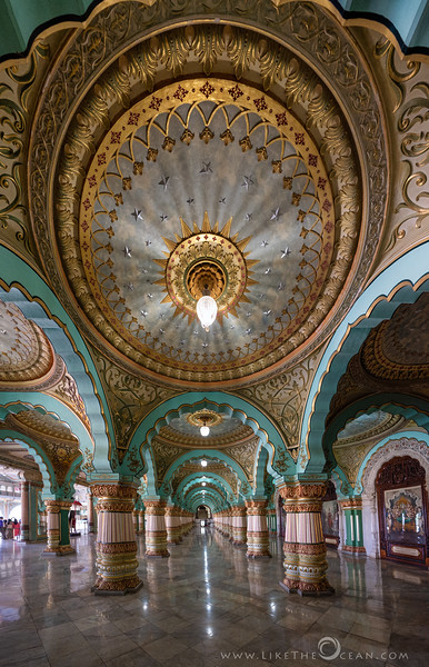 Intricate architecture at Mysore palace