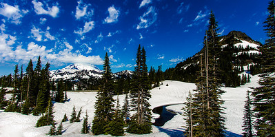 Winter Wonderland Mt Rainer receives so much snowfall thru the year that u can enjoy such a spectacular winter scenery even in July. This was shot when I got a chance to drive up last month. My plans of getting a reflection shot with Mt Rainer during sunrise did not go well with so much snow at Tipsoo Lake. But as I drove up just a mile ahead, was treated with this wonderful scene. The snow probably had melted by now. Couldn't wait to get back again this month to enjoy some wildflowers and summer hikes. Have you been to Mt Rainer National Park, what is your favorite spot ?!!!