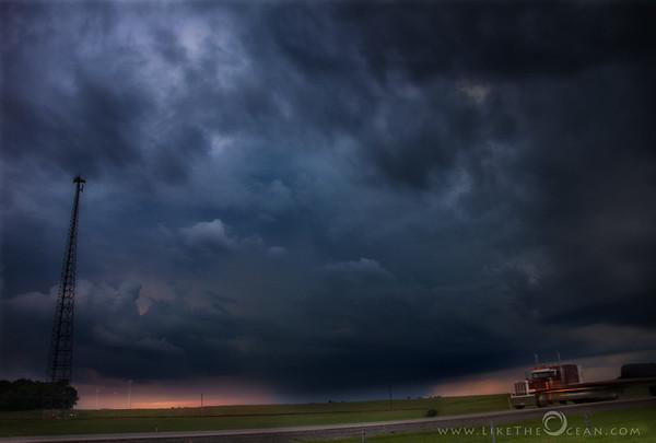 Thunderstorm, Sunset & a Truck