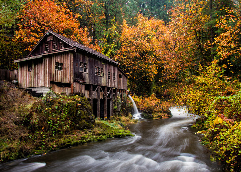 Fall Colors at the Grist Mill The Cedar Creek Grist Mill - Stumbled across this lovely place by chance. Did not realize it was such a prominent landmark. Located just couple of miles from woodland, WA – this mill still holds the original structural integrity, grinds with stones even today and is water powered. Being a little more than a century old, the place is definitely rustic. The stream of water, the covered bridge and the colors of the fall season definitely adds to the splendid scenery. If you are around here is the pacific north west, now is the best time to visit the place, as the fall colors are at peak. If not, you can always enjoy the same thru my shots !