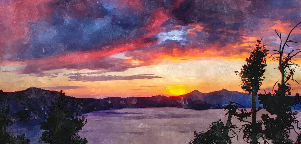 Sunset at Wizard Island