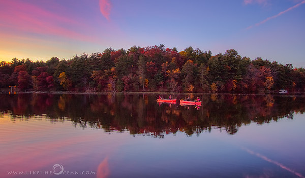Fall Colors by Tranquil lake