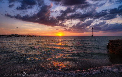 Sunset by Fort De Soto