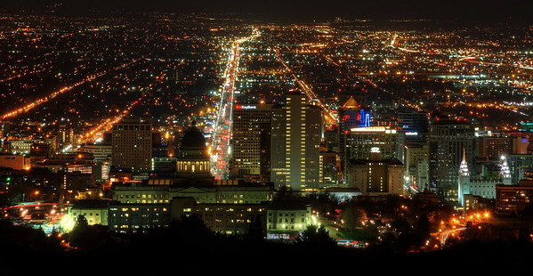 Read more from the Blog -  Night lit Skyline of Salt Lake City