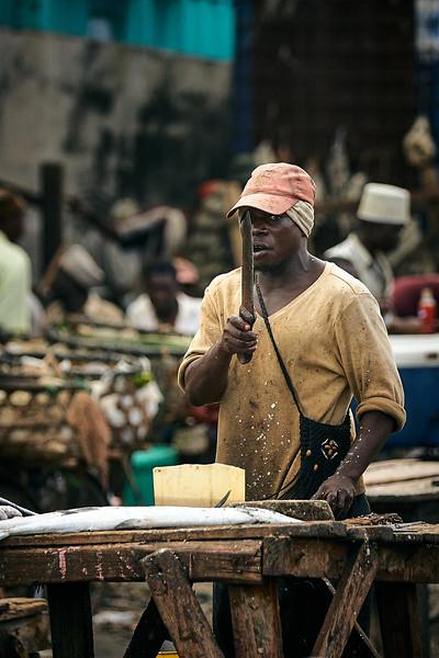 Menacing fisherman