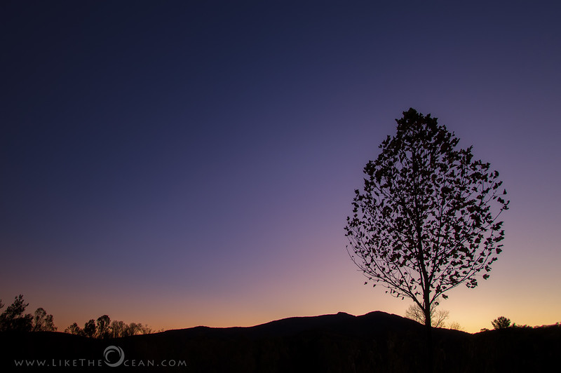 Twilight by Grandfather Mountain