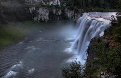 Upper Mesa Falls from Idaho