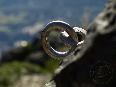 Climbing bolt on Mount Si