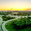 sunrise over miami city florida