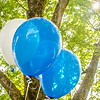 balloons on green background for a party