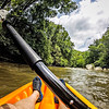 kayaking on broad river in the mountains