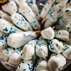 Homemade white Chocolate Covered Pretzels