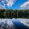forest treeline reflections in catawba river