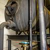 old boiler room equipment- high power boiler burner