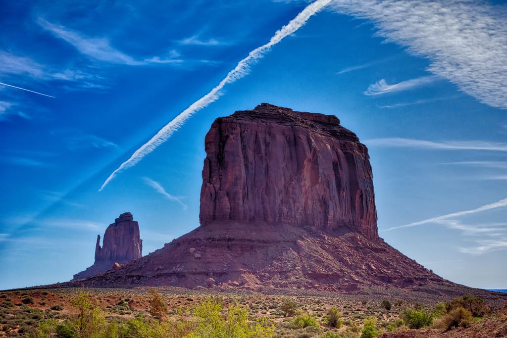 The unique landscape of Monument Valley Arizona USA