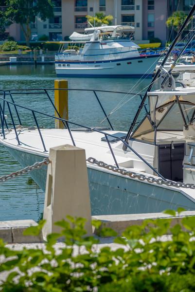 boats parked in harbor marina
