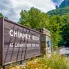 entance sign into chimney rock park