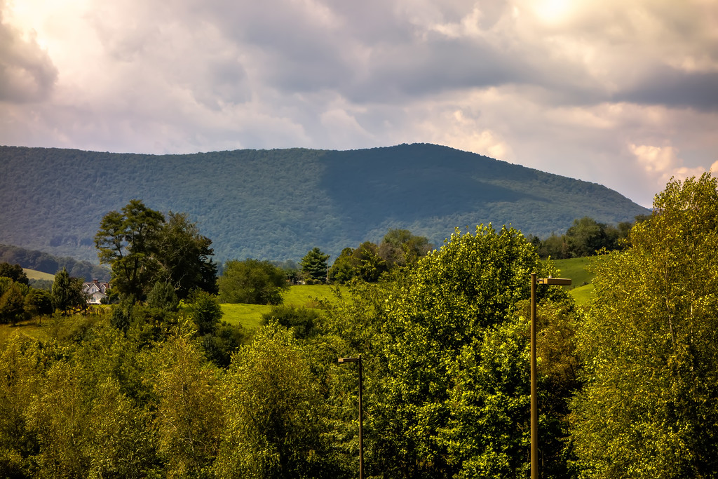 Ashe County  mountains North Carolina Seen From the Blue Ridge Parkway in summer