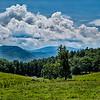 Blue Ridges of the Appalachian Mountains on the Blue Ridge Parkway near bryson city