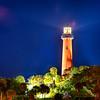jupiter florida  inlet lighthouse at night
