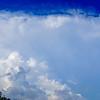panorama of a cumulous cloud on blue sky