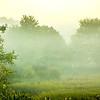 fog rolling through blue ridge parkway farm lands