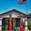 Shelby NC U.S.A. - May 15 2016: Shelby North carolina, the old Texaco gas station on Ramseur Church Rd