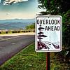 blue ridge parkway overlook ahead sign