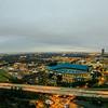 aerial of charlotte north carolina skyline