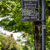 plaza midwood of historic district in charlotte nc sign