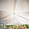 wedding setup details in garden venue