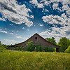 American Farmland With Blue Cloudy Sky in the south