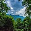 scenes near chimney rock and lake lure in blue ridge mountains north carolina