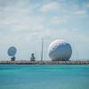 radar dome technology on the sea coast