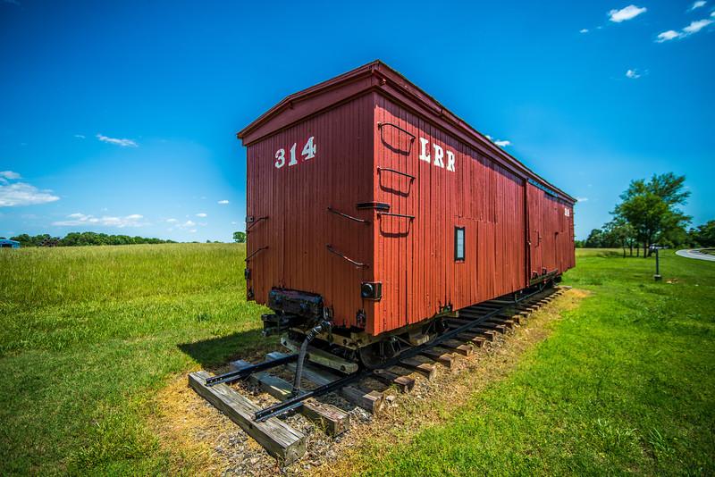 big red caboose wagon