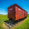 big red caboose wagon