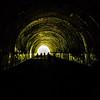 tunnel to road to nowhere at lakeshore trailhead near lake fontana