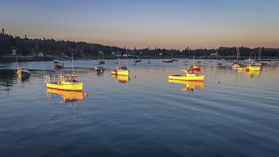Stonington Harbor at Sunset