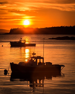 Sunset at Burnt Cove, Deer Isle