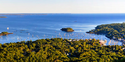 Camden Harbor and Penobscot Bay from Mt Battie