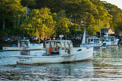 New Harbor at Dusk