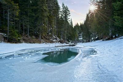 Braies Frozen River